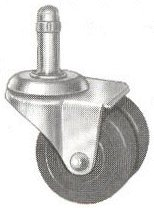 Double Wheel Rubber Casters For Uprights